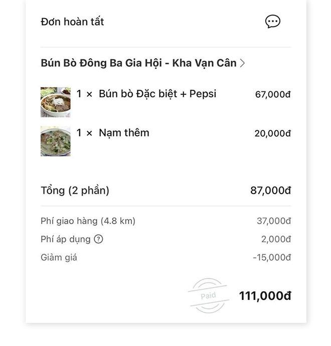 Tô bún bò 126.000đ